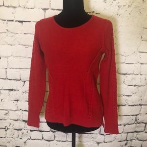 CYNTHIA ROWLEY Wool Blend Red Sweater
